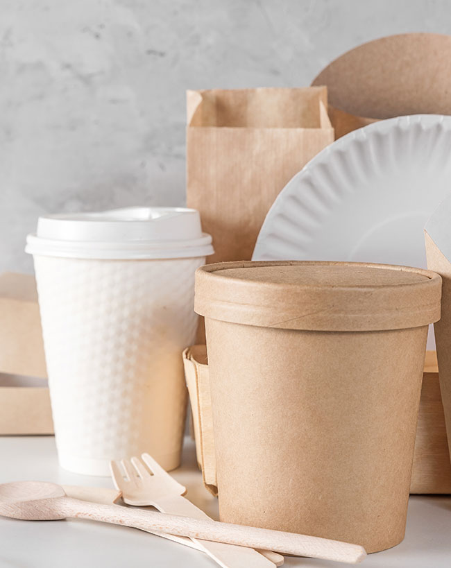 Paper plates and bags